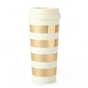 kate spade gold coffee cup