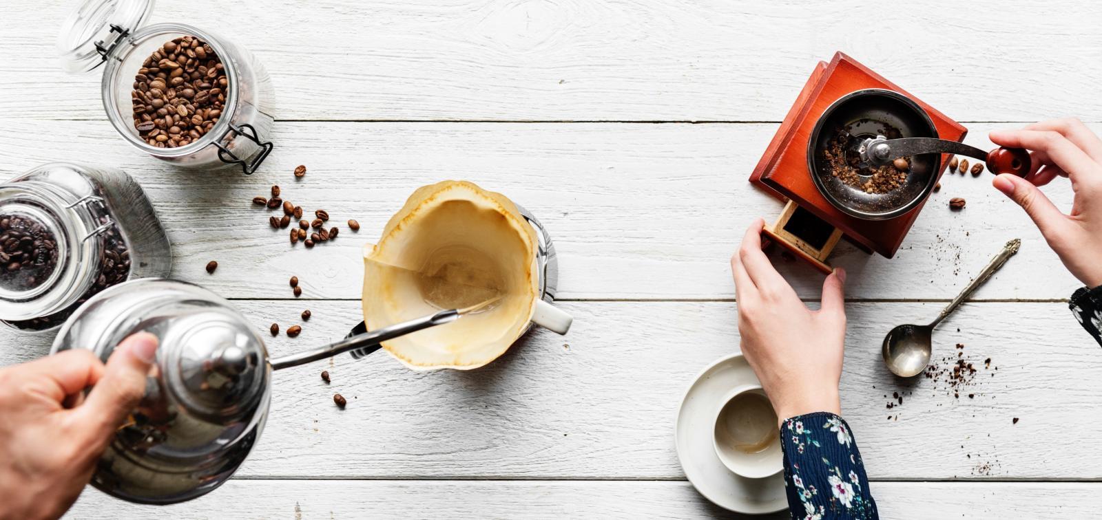 coffee grinding