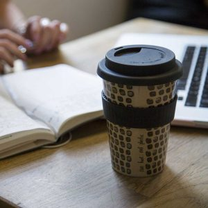 Huskup reusable coffee cup