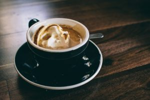 italian affogato coffee