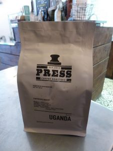 Press coffee from Uganda